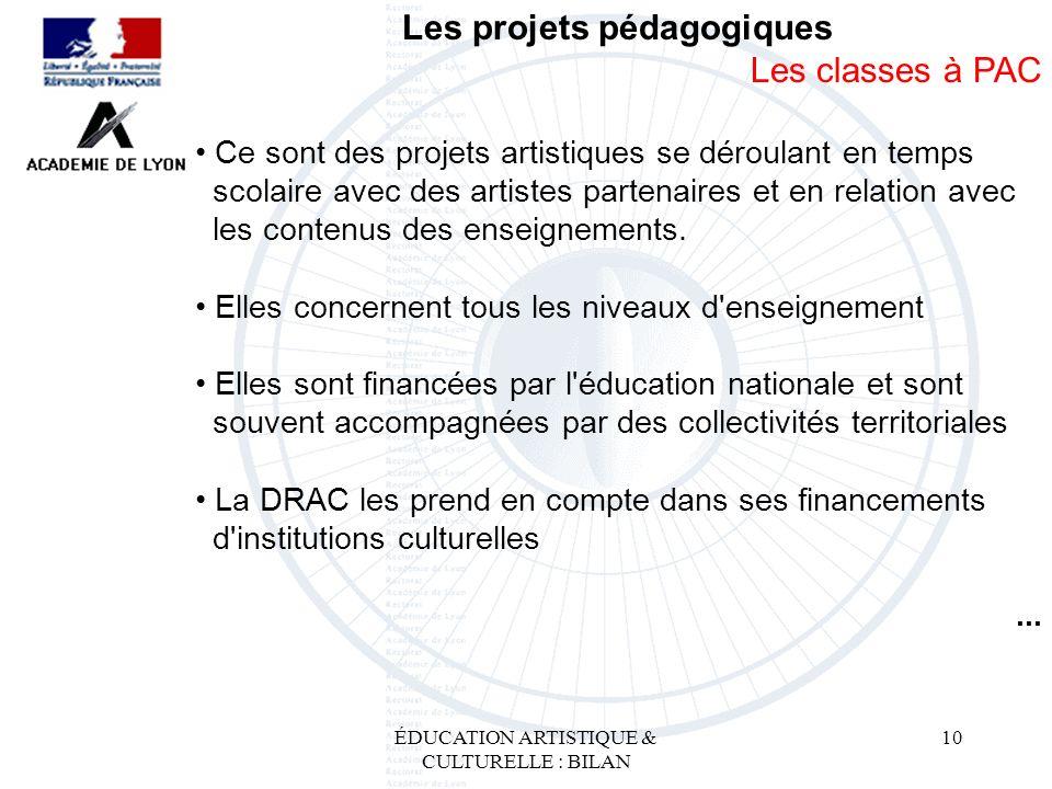 Les projets pédagogiques