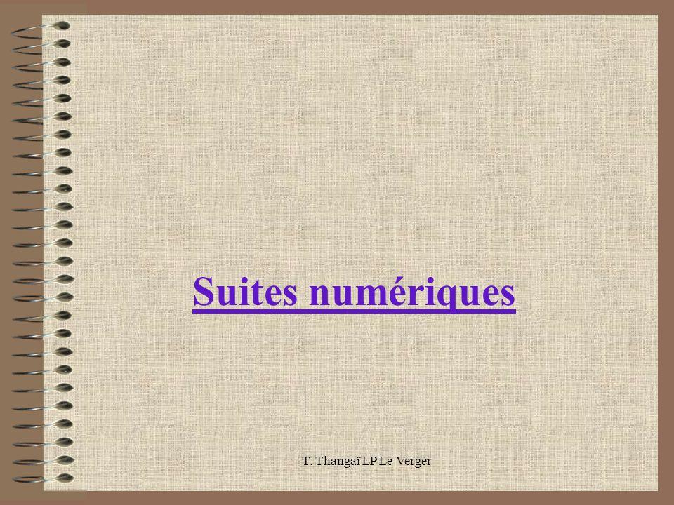 Suites numériques T. Thangaï LP Le Verger