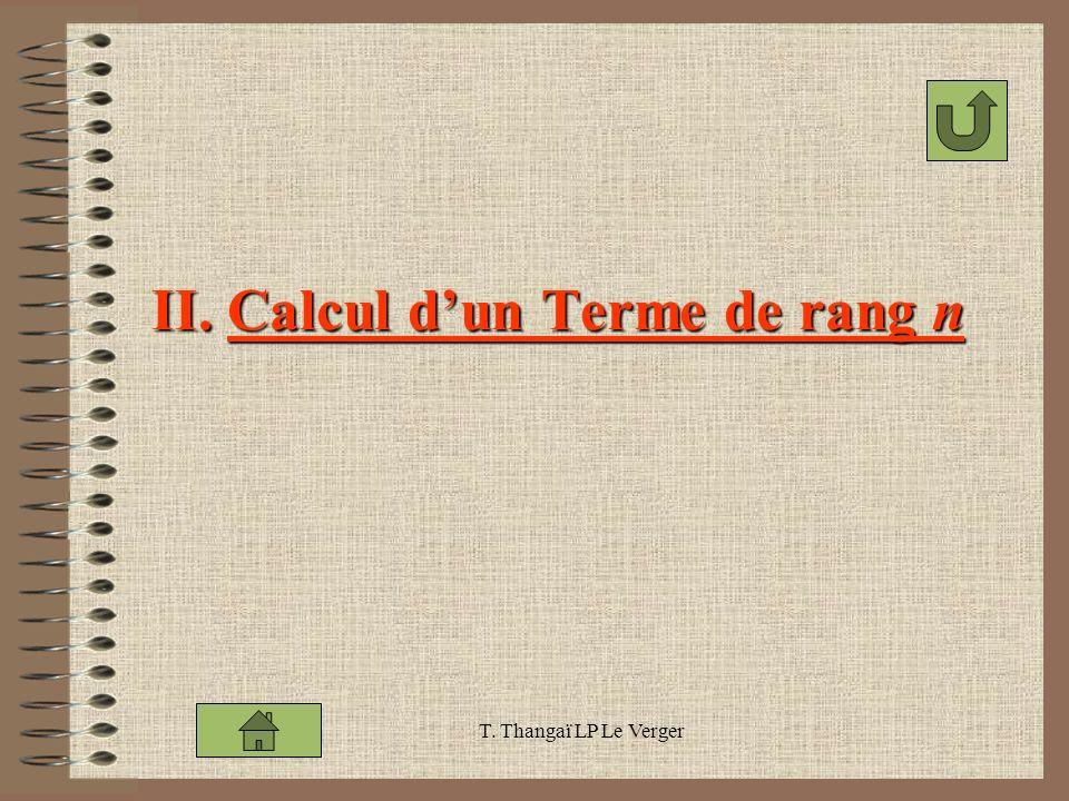 II. Calcul d'un Terme de rang n