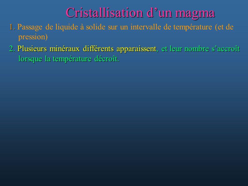 Cristallisation d'un magma