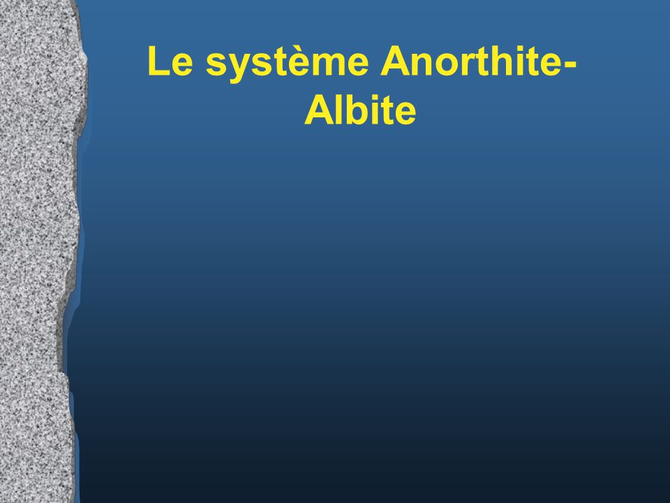 Le système Anorthite-Albite