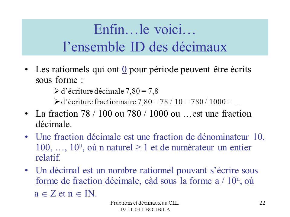 Enfin…le voici… l'ensemble ID des décimaux