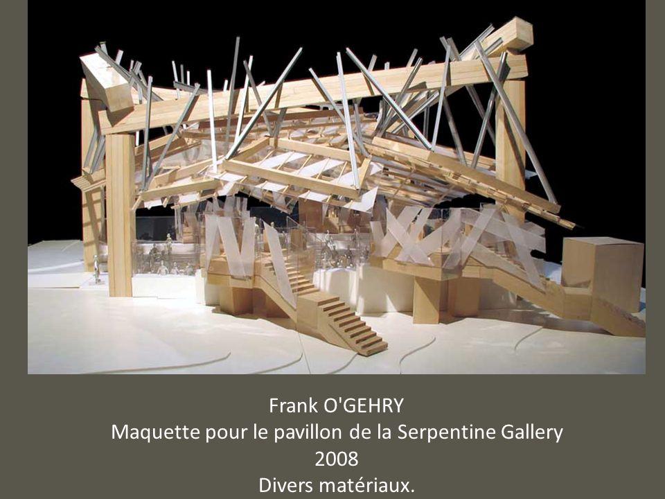Maquette pour le pavillon de la Serpentine Gallery