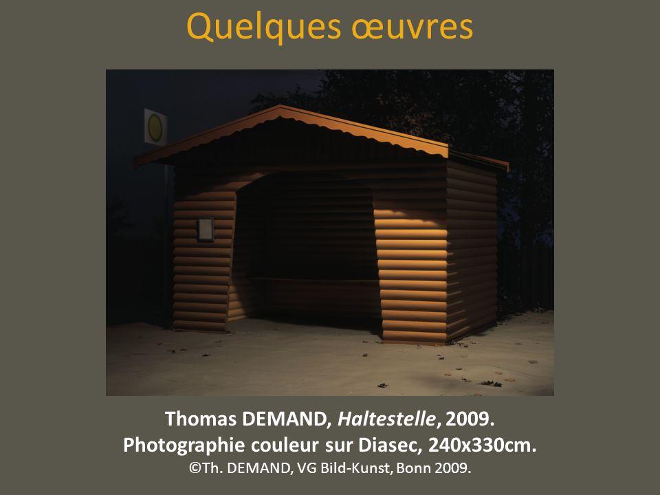 Quelques œuvres Thomas DEMAND, Haltestelle, 2009.