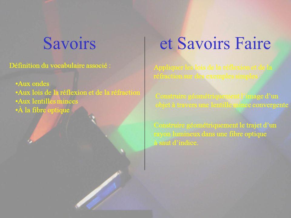Savoirs et Savoirs Faire Définition du vocabulaire associé :