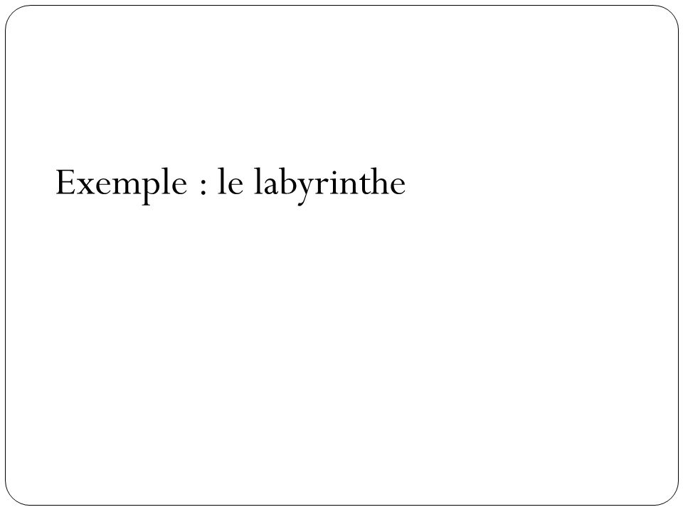Exemple : le labyrinthe