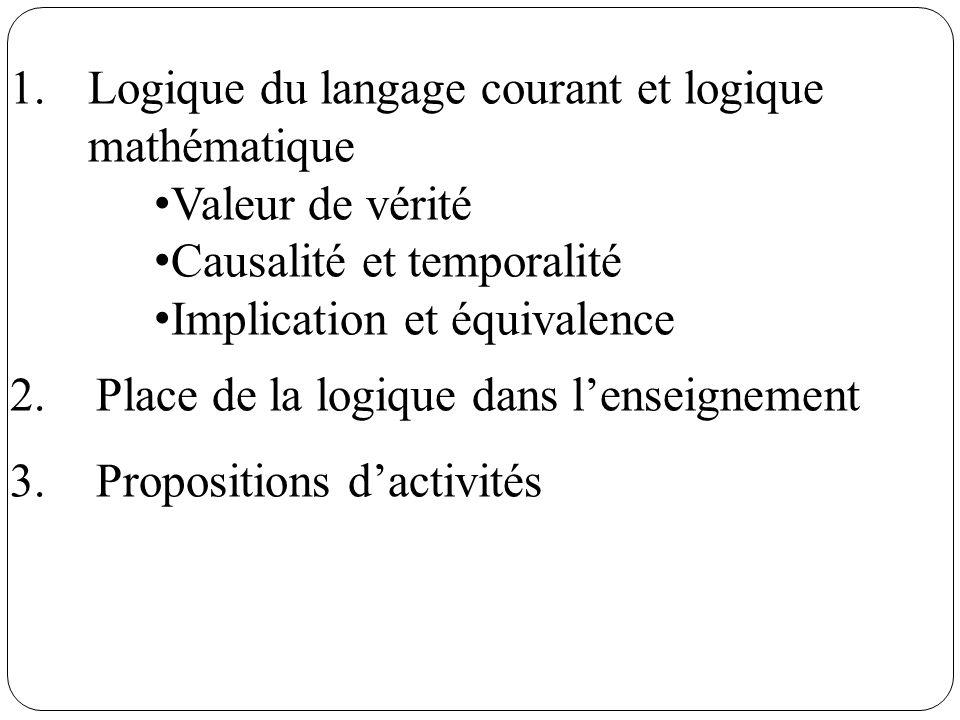 Logique du langage courant et logique mathématique