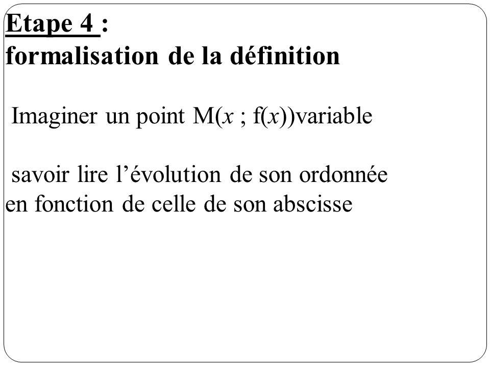 formalisation de la définition