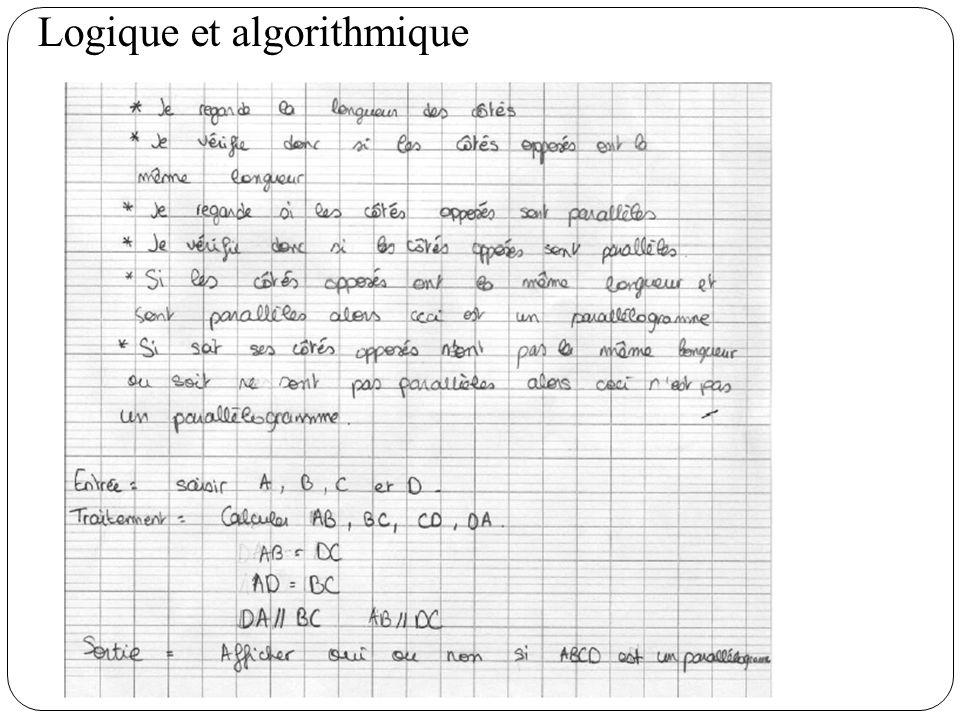 Logique et algorithmique