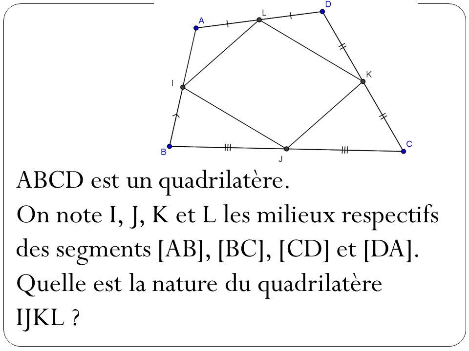 ABCD est un quadrilatère.
