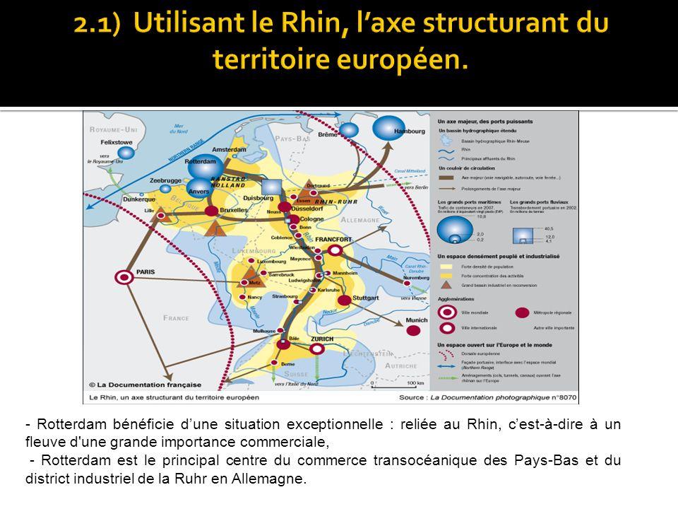 2.1) Utilisant le Rhin, l'axe structurant du territoire européen.