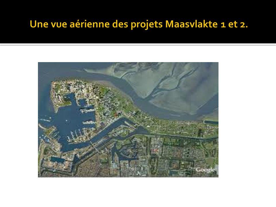 Une vue aérienne des projets Maasvlakte 1 et 2.