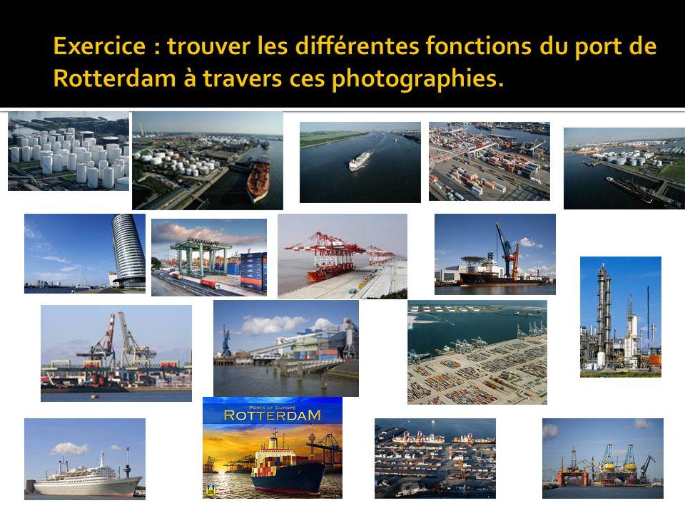 Exercice : trouver les différentes fonctions du port de Rotterdam à travers ces photographies.