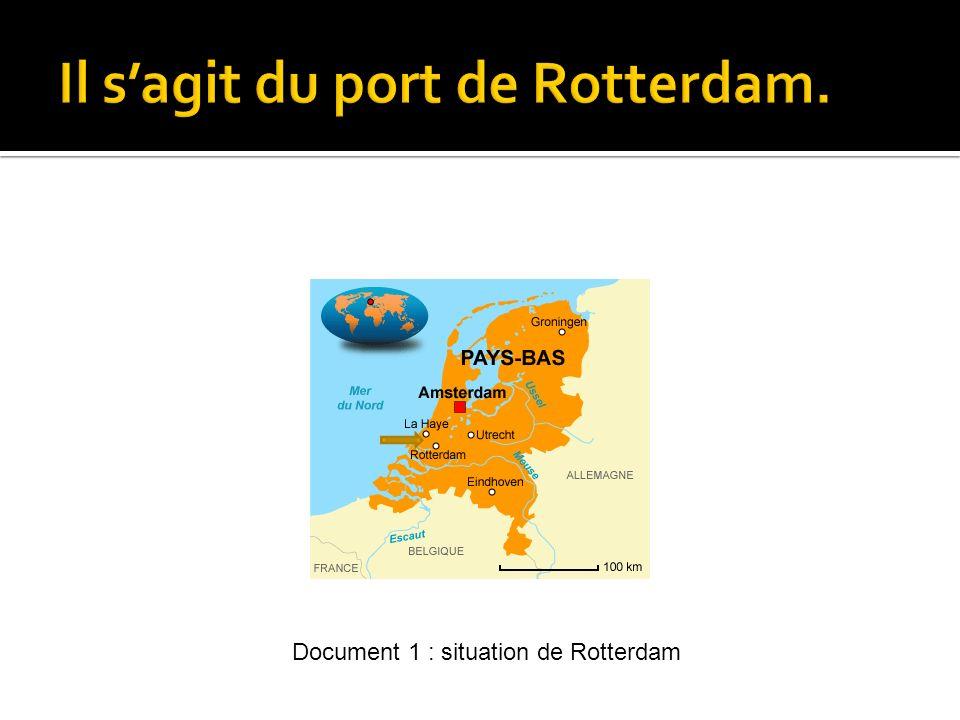 Il s'agit du port de Rotterdam.