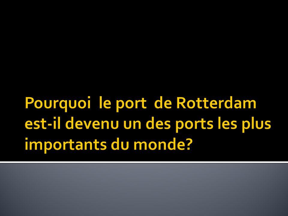 Pourquoi le port de Rotterdam est-il devenu un des ports les plus importants du monde