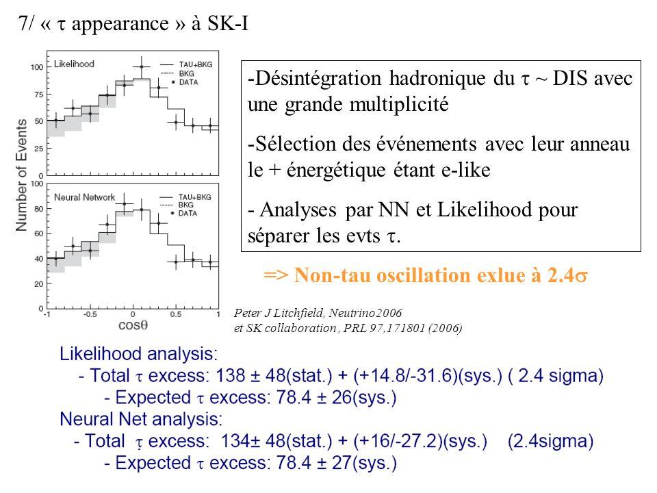 Désintégration hadronique du t ~ DIS avec une grande multiplicité