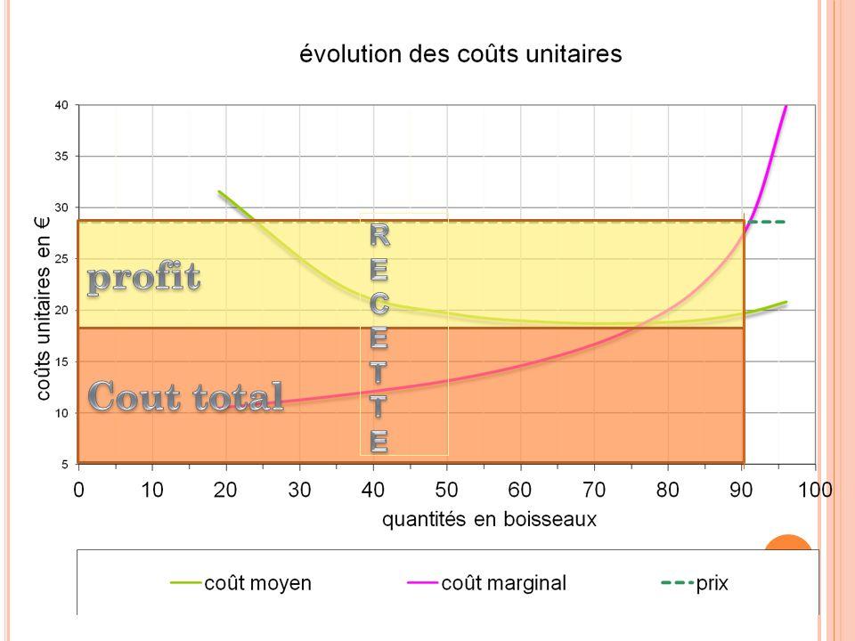 R E C T profit Cout total