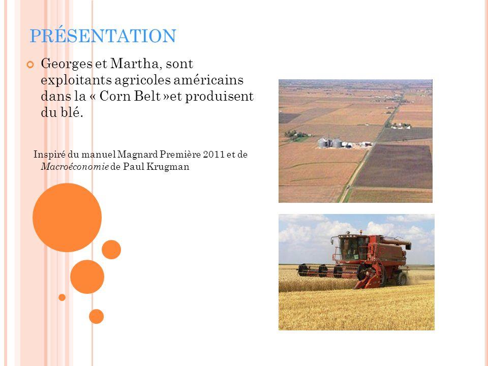 PRÉSENTATION Georges et Martha, sont exploitants agricoles américains dans la « Corn Belt »et produisent du blé.