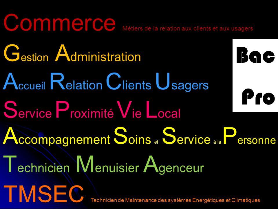 Commerce Métiers de la relation aux clients et aux usagers