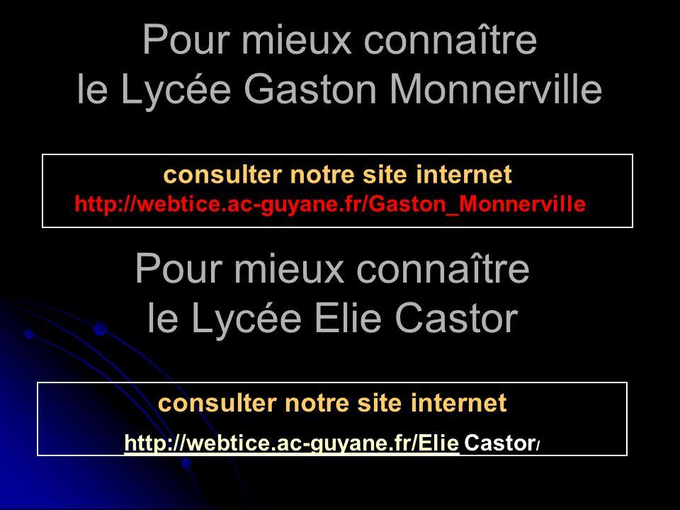 Pour mieux connaître le Lycée Gaston Monnerville