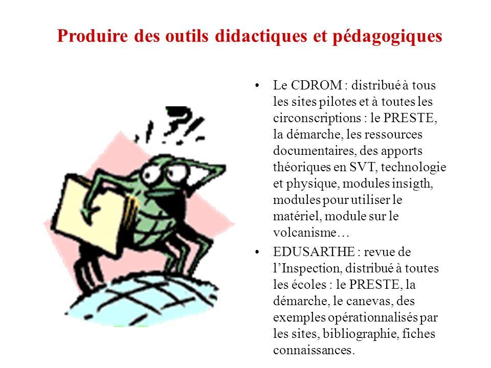 Produire des outils didactiques et pédagogiques