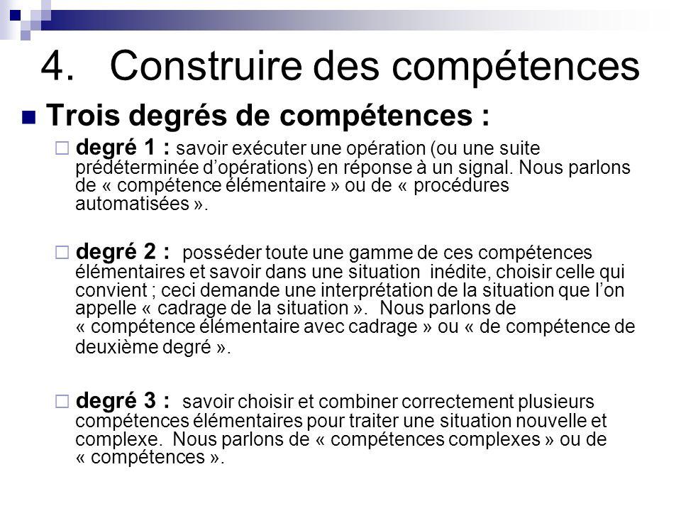 4. Construire des compétences