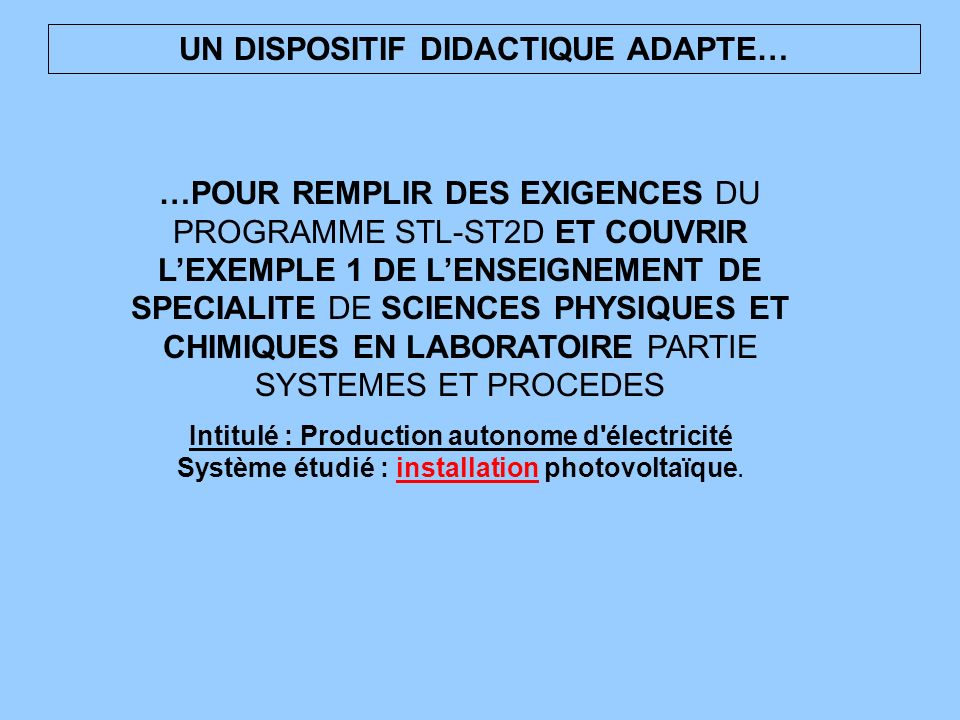 UN DISPOSITIF DIDACTIQUE ADAPTE…