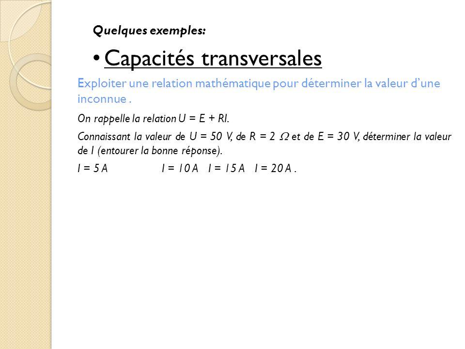 Capacités transversales