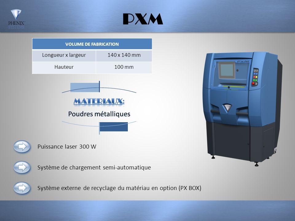 PXM MATERIAUX: Poudres métalliques Puissance laser 300 W