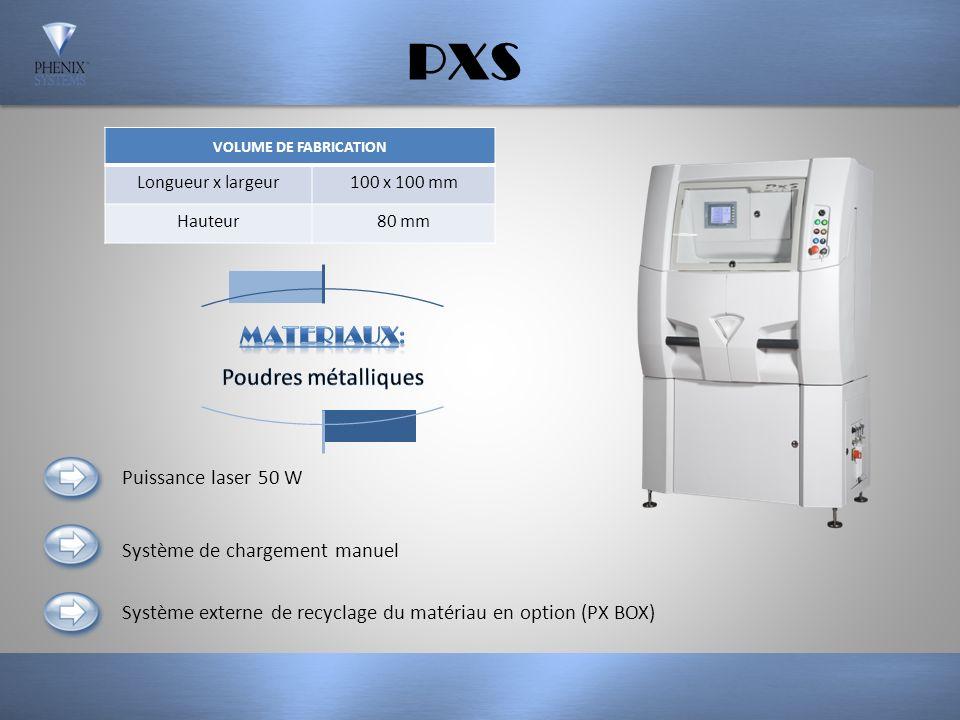 PXS MATERIAUX: Poudres métalliques Puissance laser 50 W