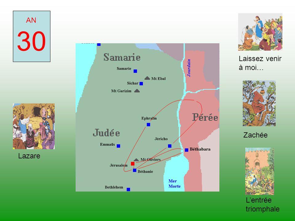 30 AN Laissez venir à moi… Zachée Lazare L'entrée triomphale