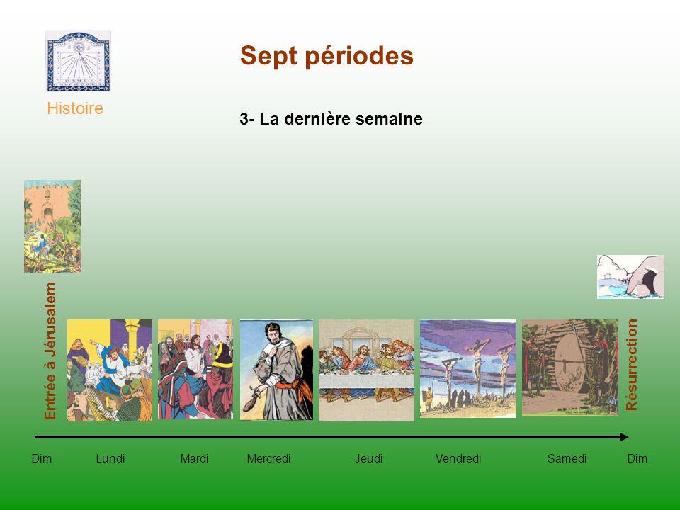 Sept périodes Histoire 3- La dernière semaine Entrée à Jérusalem
