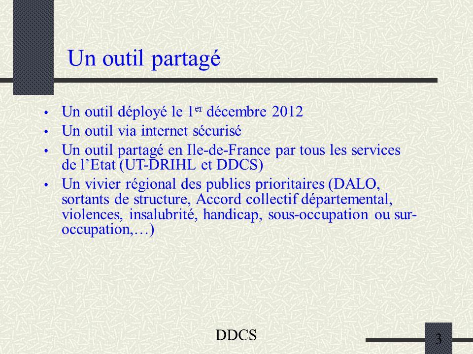 Un outil partagé Un outil déployé le 1er décembre 2012