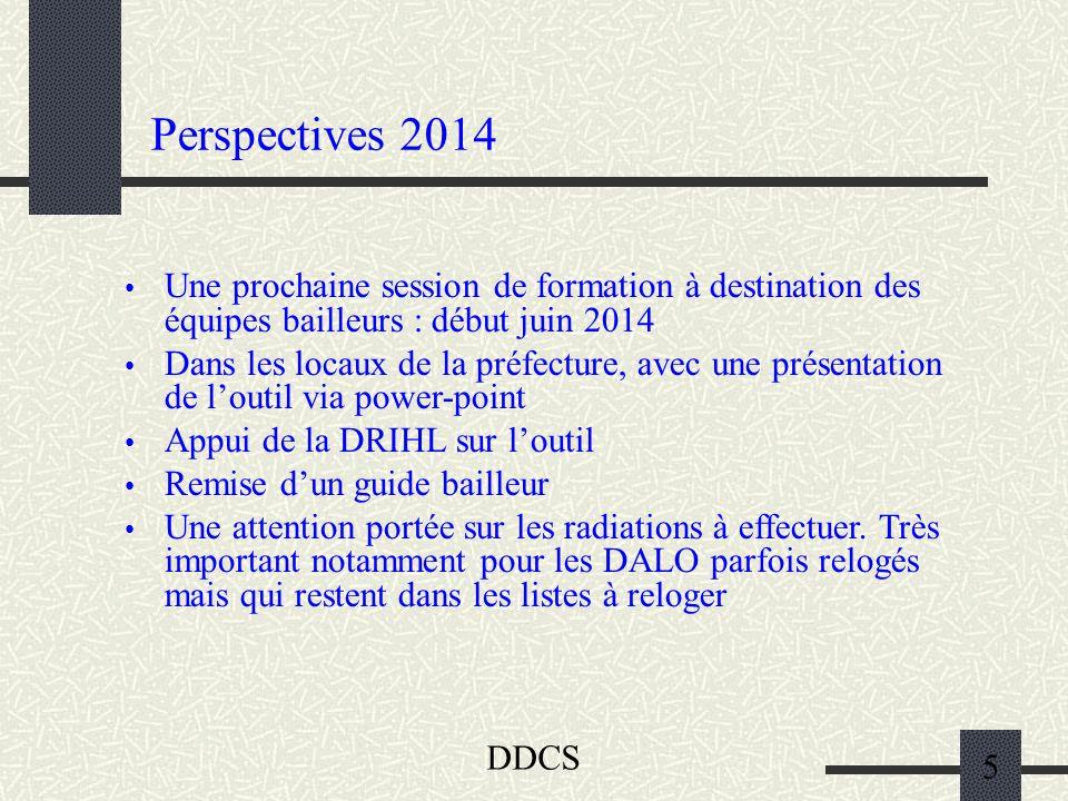 Perspectives 2014 Une prochaine session de formation à destination des équipes bailleurs : début juin 2014.