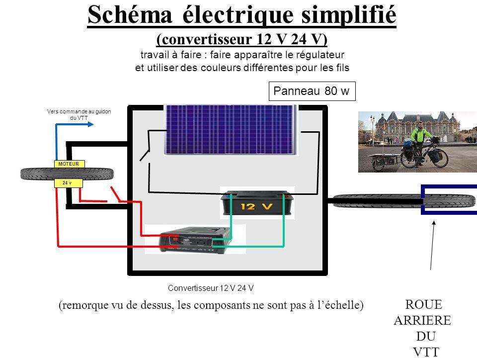 Schéma électrique simplifié (convertisseur 12 V 24 V)