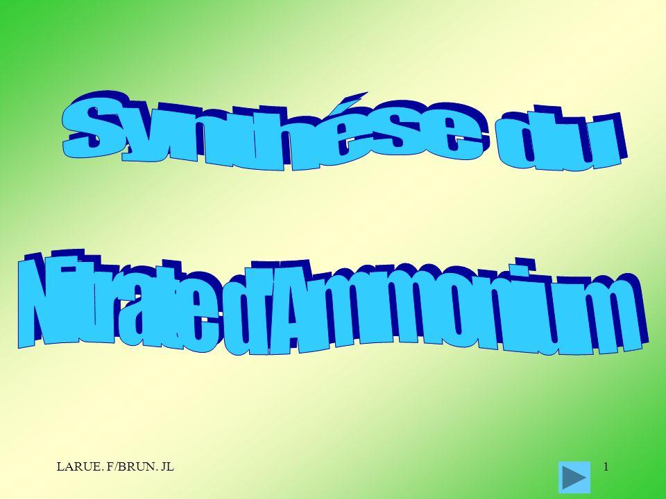 Synthése du Nitrate d Ammonium LARUE. F/BRUN. JL
