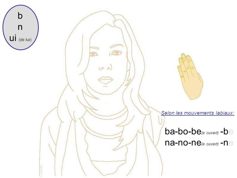 ba-bo-be(e ouvert) -be na-no-ne(e ouvert) -ne
