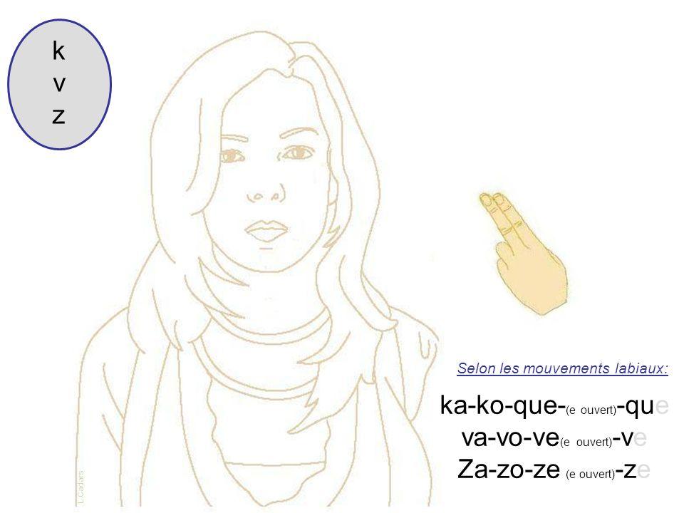 ka-ko-que-(e ouvert)-que va-vo-ve(e ouvert)-ve Za-zo-ze (e ouvert)-ze