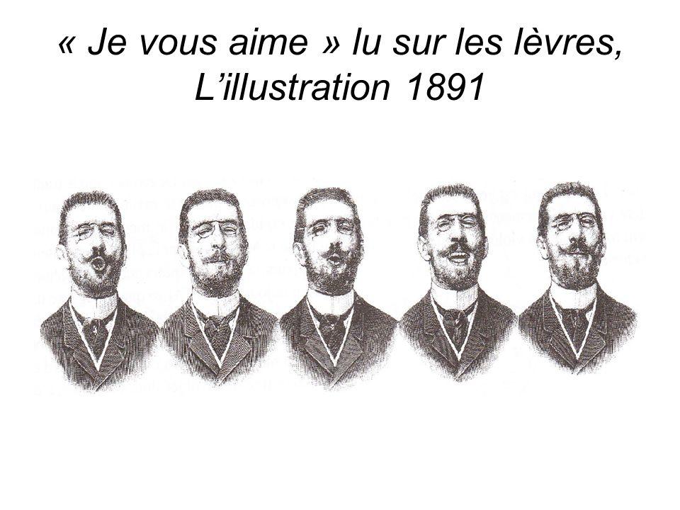 « Je vous aime » lu sur les lèvres, L'illustration 1891