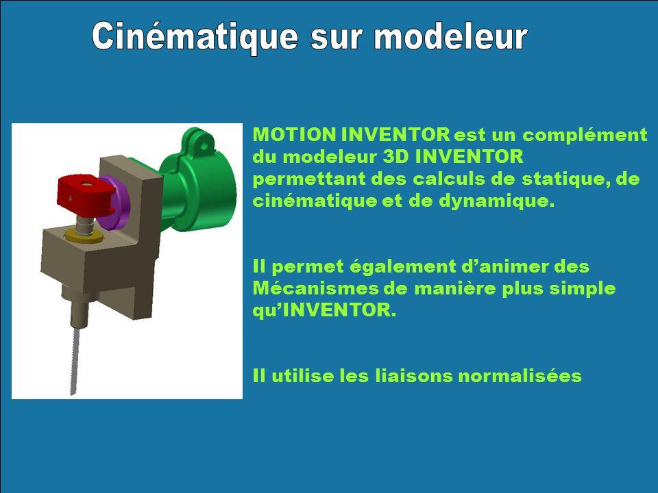 Cinématique sur modeleur