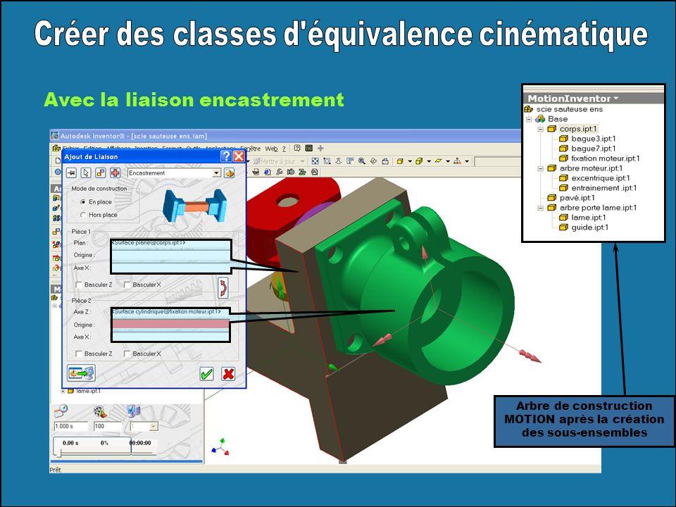 Créer des classes d équivalence cinématique