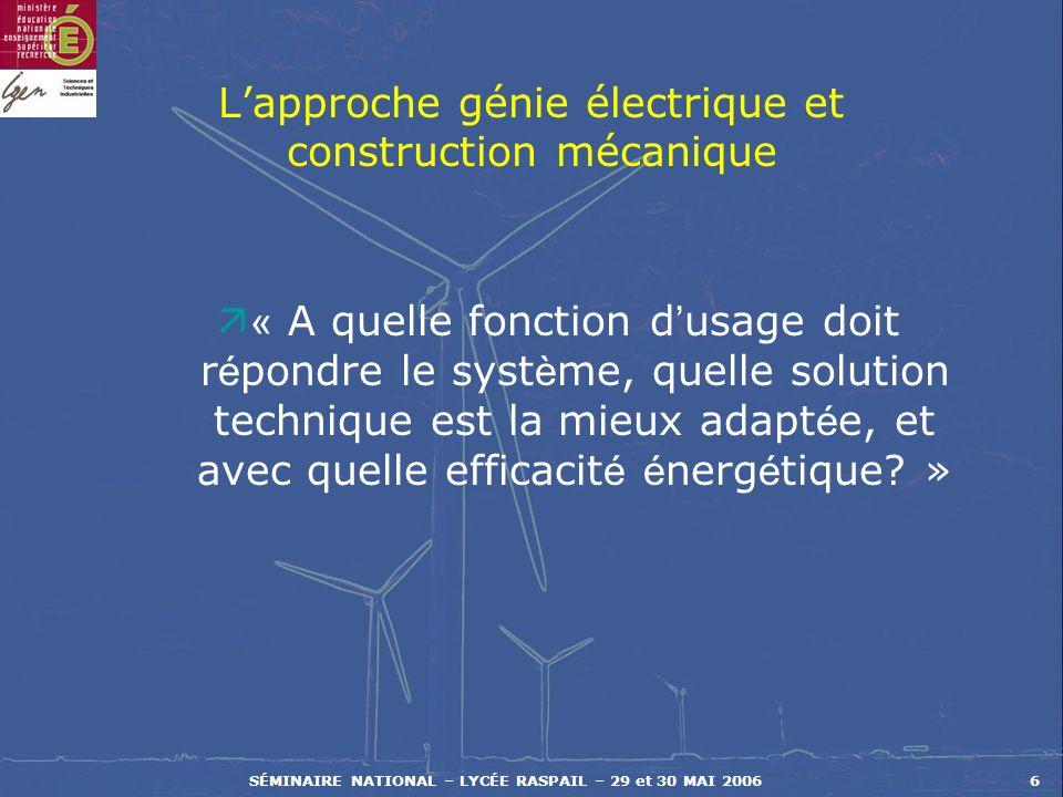 L'approche génie électrique et construction mécanique