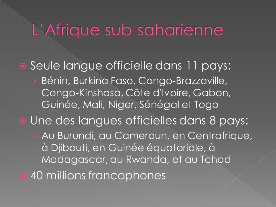 L'Afrique sub-saharienne