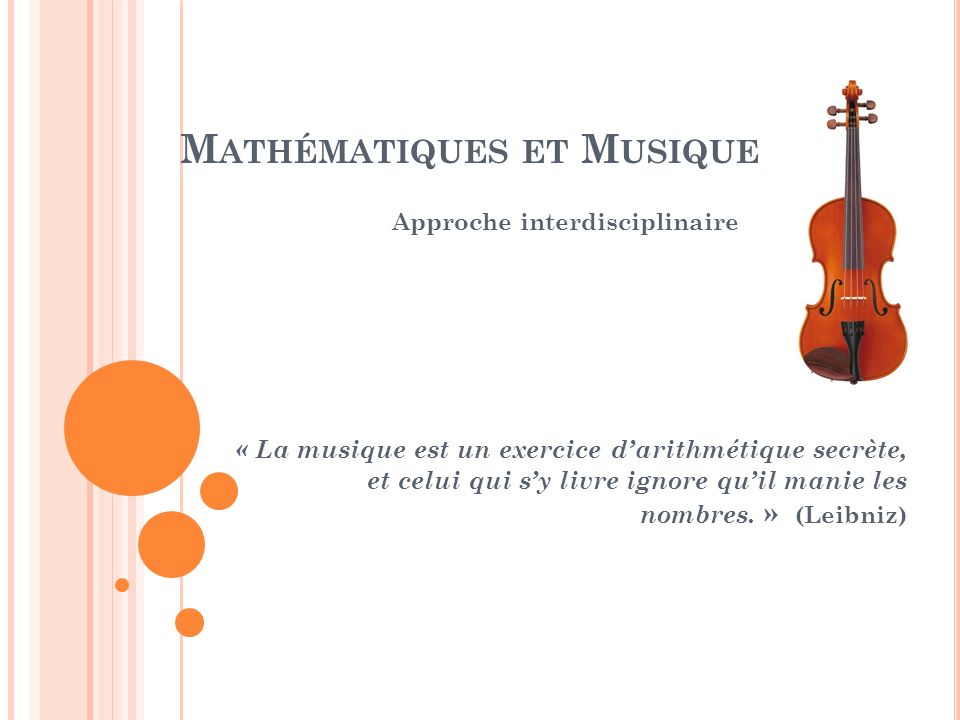 Mathématiques et Musique