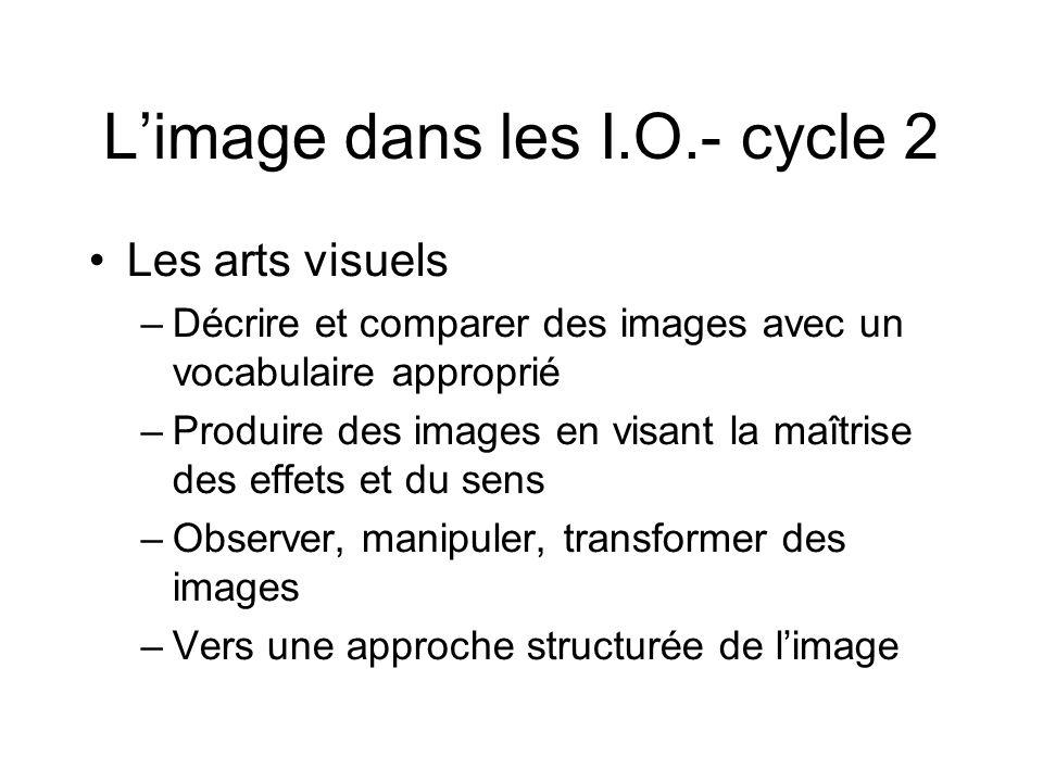L'image dans les I.O.- cycle 2