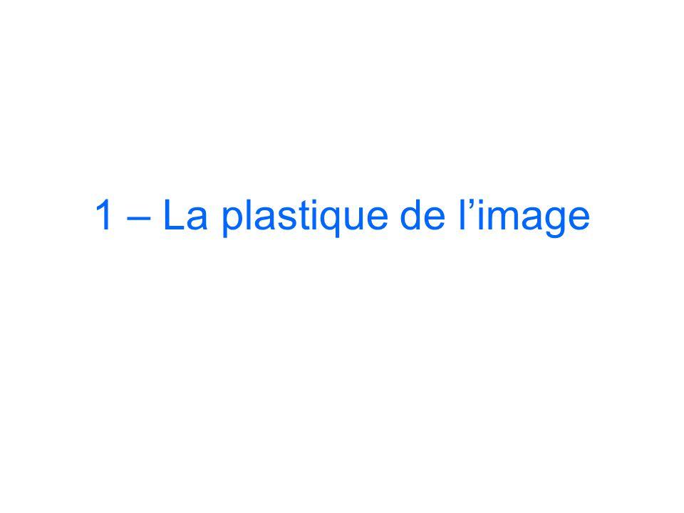 1 – La plastique de l'image