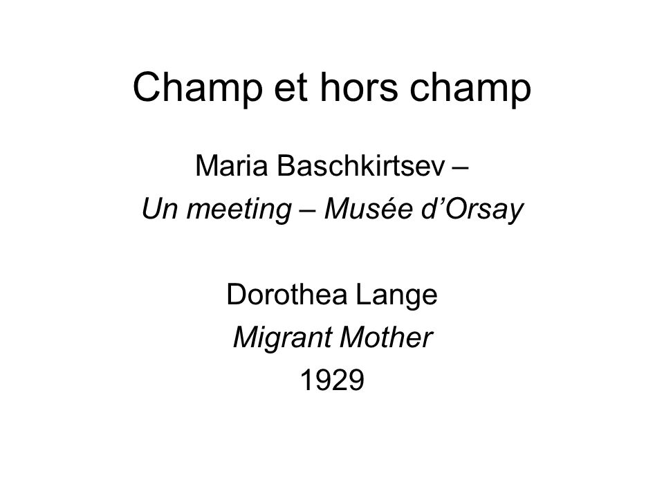 Un meeting – Musée d'Orsay