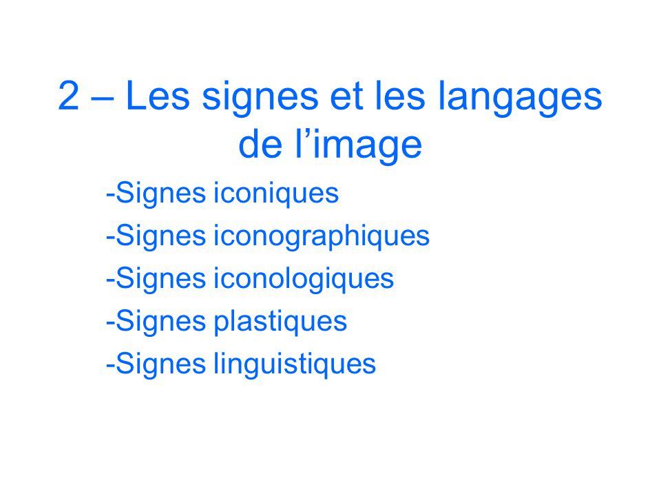 2 – Les signes et les langages de l'image