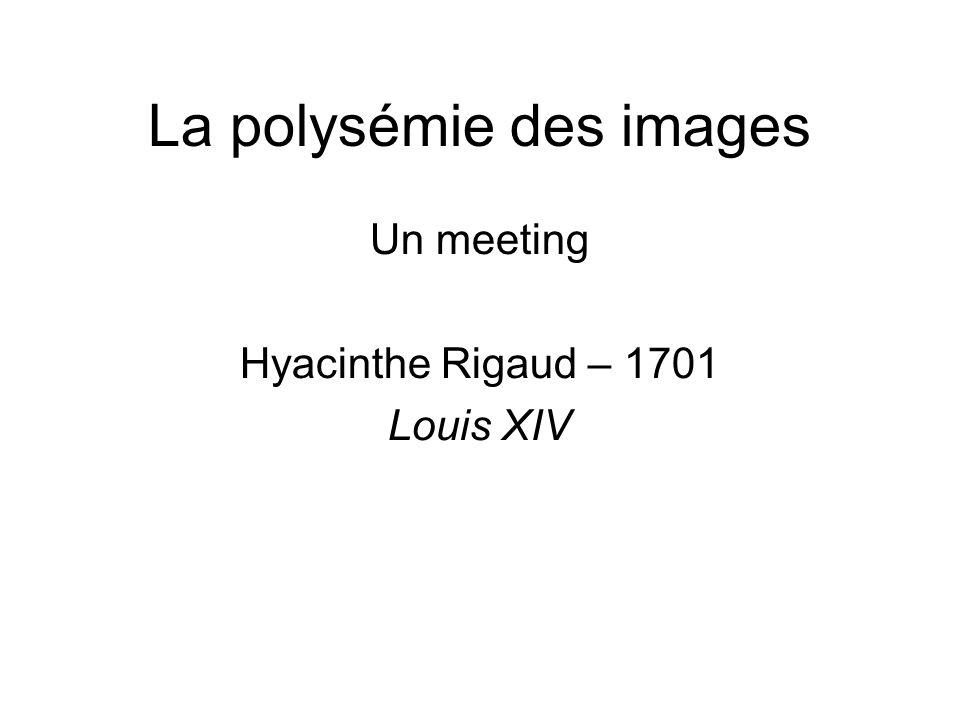 La polysémie des images
