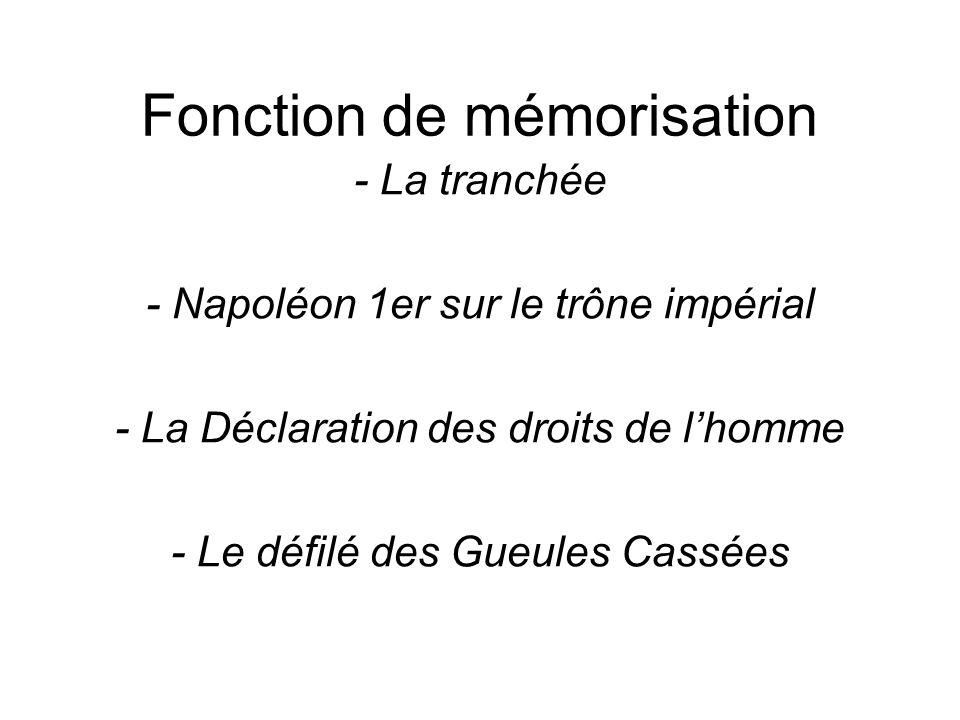 Fonction de mémorisation